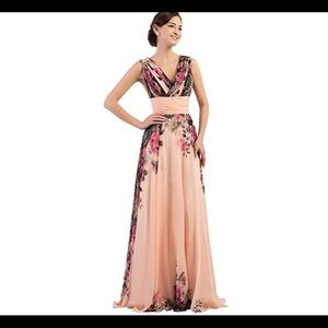 🆕 Floral Print Graceful Chiffon Dress